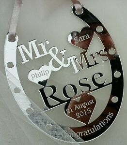 Wedding Gifts For Good Luck : WEDDING DAY GOOD LUCK HORSE SHOE , WEDDING GIFT , PERSONALISED PRESENT ...
