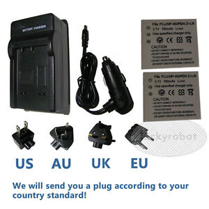 2X-Battery-charger-For-Konica-Minolta-Dimage-X1-NP1-NP-1-Fuji-NP-40-NP40