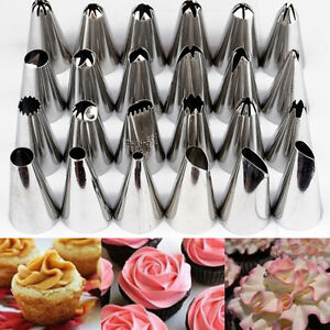 piping nozzles pastry tips fondant cake decorating sugarcraft tools