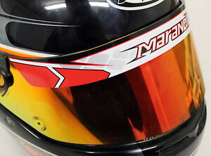 Details Zu Maranello Helmet Visor Stickerstrip Karting