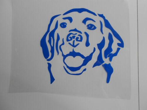 Schablone Stencil Hundekopf für Textil Airbrush Wanddeko u.v.m auf A4