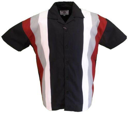 Lambretta Homme noir à manches courtes bowling shirt...