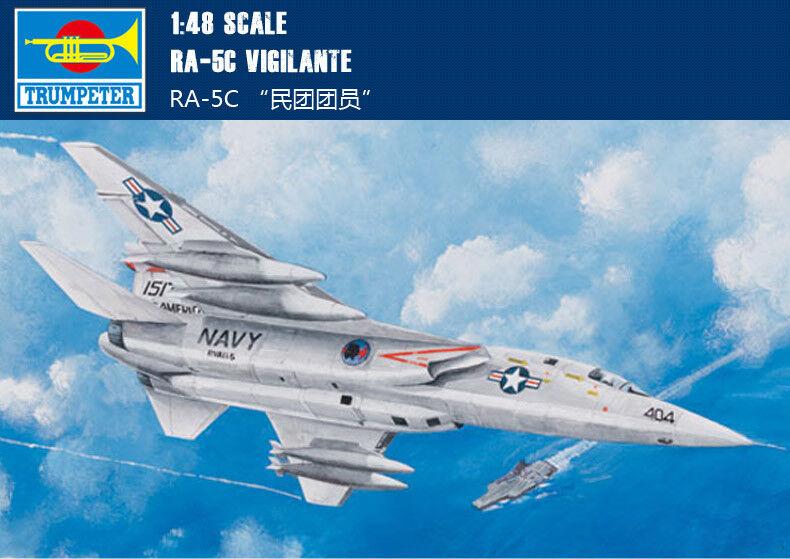 RA-5C VIGILANTE 1 48 aircraft Trumpeter model plane kit 02809
