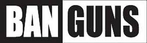 STI-0024 Ban Guns POLITICAL ANTI NRA QUALITY NEW BUMPER STICKER