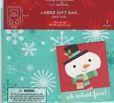 "New Christmas House Giant Gift Presents Bag w Tag 36/"" x 44/"" ~ PLAID Qty 1"