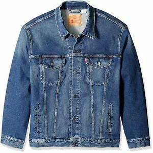 Levis-Big-and-Tall-Trucker-Jacket-Men-039-s-Loose-Fit-Blue-Cotton-Denim-0017