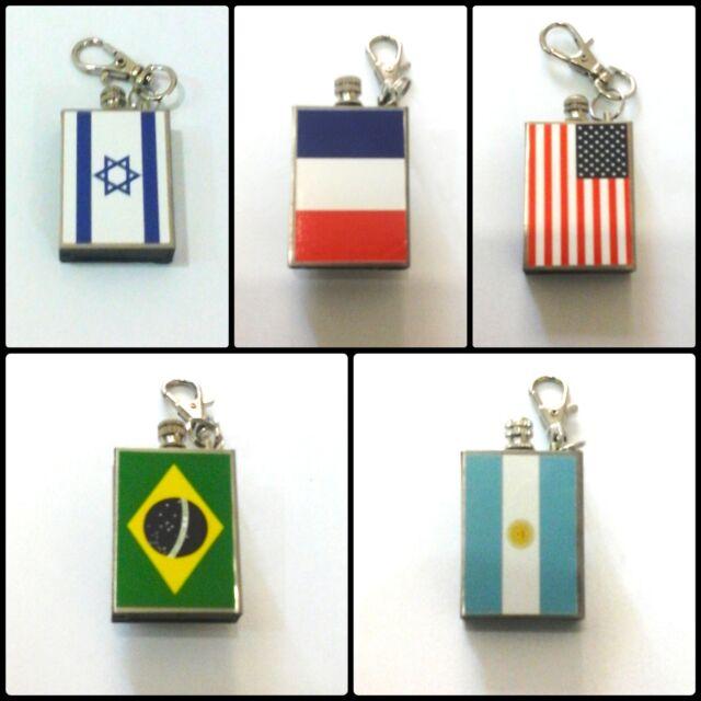 Flags of the World Reusable-match Lighter - USA France Israel Brazil Argentina