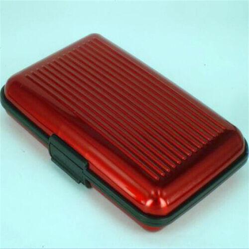 Aluminum Metal Credit Card Holder Wallet Case Box Protector Pocket Ladies Mens