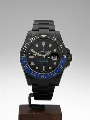 ROLEX GMT-MASTER II CUSTOM BLACK DLC COATED WATCH 116710BLNR 40MM - COM545