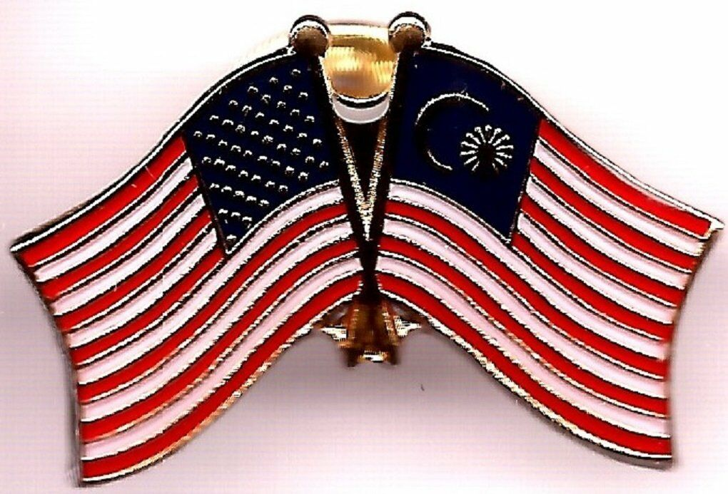 Wholesale Pack of 50 USA American Malaysia Friendship Flag Hat Cap lapel Pin