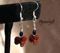 Dachshund Earrings (red) 13031