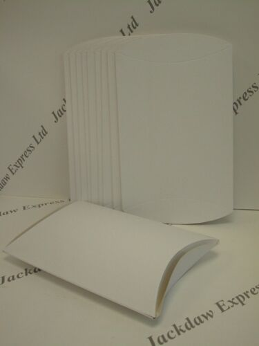 10 x Pillow Box Flat Pack Glued White Assembled Size 200x170mm Edge 240mm AM391