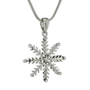 a74de7e69a Snowflake W Swarovski Crystal Winter Snow Pendant 18