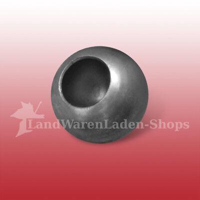 Hohlkugel Stahl Durchmesser 60 mm mit Bodenöffnung 31 mm Stahlkugel