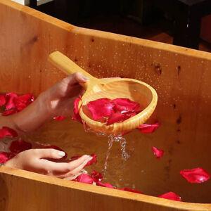 Wooden Short Handle Ladle Scoop Water Spoon for Bath Sauna ...