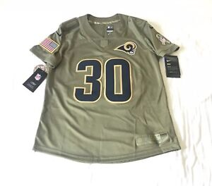 size 40 31ae8 831e1 Details about Todd Gurley Los Angeles Rams Nike Salute To Service Jersey  Womens Size Large