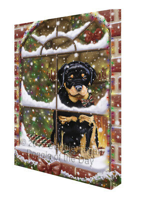 Please Come Home For Christmas Schnauzer Dog Sitting In Window Pillow PIL49748