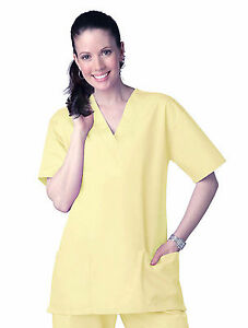 Scrub-Top-NEW-Yellow-Unisex-XS-S-Small-Men-039-s-Women-039-s-A118