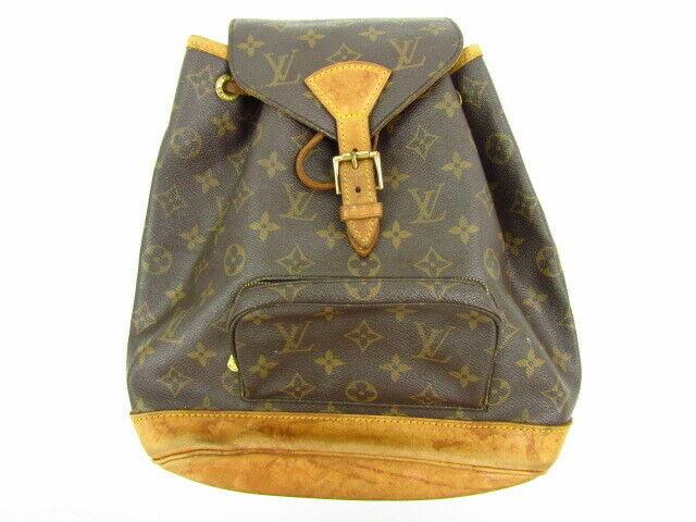 Auth Louis Vuitton Monogram Montsouris Mm M51136 Backpack Brown Canvas For Sale Online Ebay