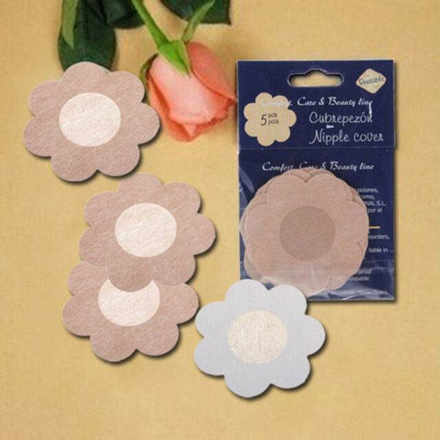 10X Petal Shape Invisible  Nipple Cover Sticker Bra Pad Patch Disposable SP