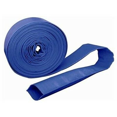 """1 1//2/"""" 3/"""" 2/"""" 4/"""" 1 1//4/"""" PVC Layflat Blue Water Delivery Hose 1/"""" 6/"""""""