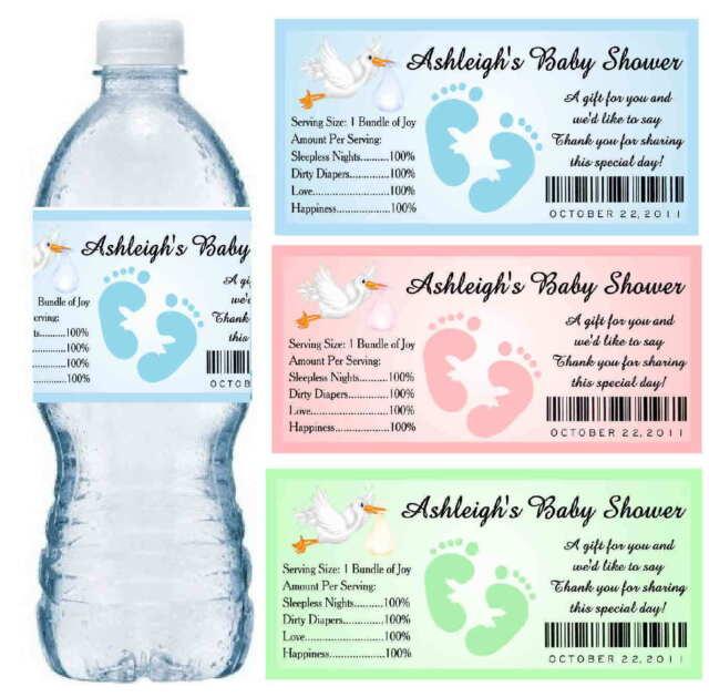 Crayon Box Personalized Birthday Waterproof Water Bottle Labels