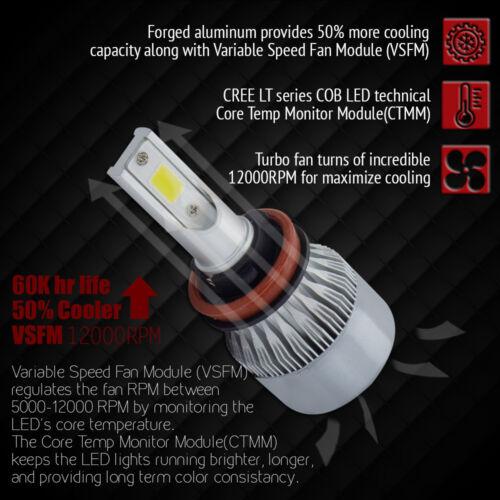 XENTEC 8000LM 80W H11 H9 H8 LED Headlight Kit Bulbs Pair 6000K Xenon White
