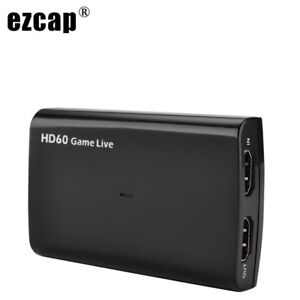 HDMI Video Capture Card Mic USB 3.0 1080P 60fps Phone Game Record Live Streaming