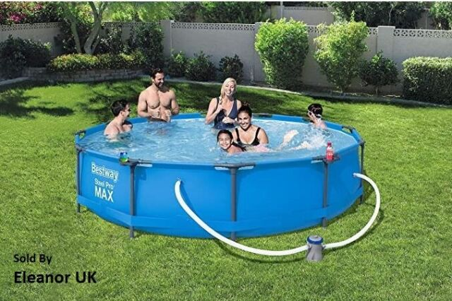 Bestway 56416 366cm X 76cm Steel Frame Swimming Pool Set For Sale Online Ebay