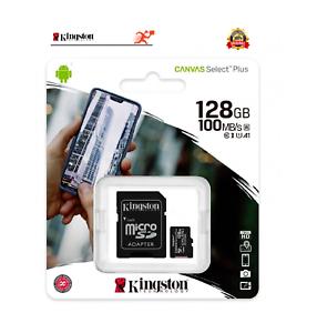 MICRO SD 128GB 128 GB scheda di memoria Kingston Classe 10 microSD ADATTATORE