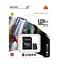 miniatura 1 - MICRO SD 128GB 128 GB scheda di memoria Kingston Classe 10 microSD ADATTATORE
