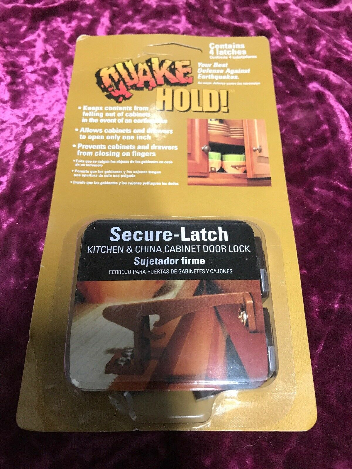 4250 Secure-Latch Cabinet Door Latch Quakehold