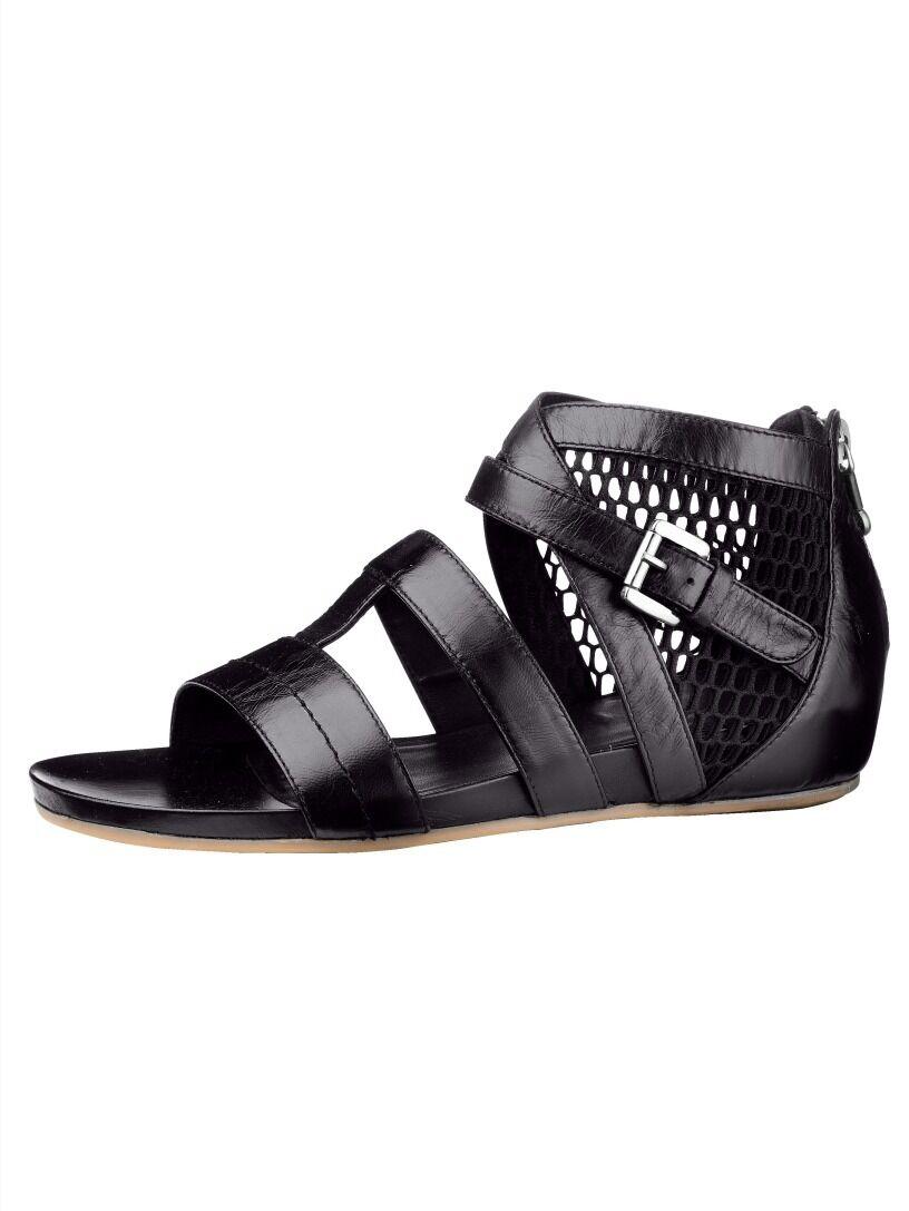 Chaussures sandale cuir noir de Marc Taille 40 (6,5)