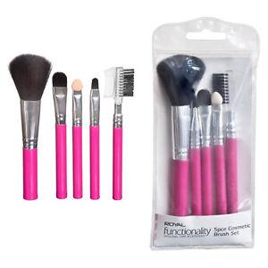 Royal-5-Piece-Pink-Cosmetic-Brush-Set-Powder-Eyeshadow-Angled-Liner-Applicator