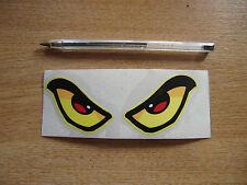 Mal De Ojos calcomanía / etiqueta adhesiva-Amarillo 125mm X 50 Mm-Auto / Van / Motocicleta / Casco