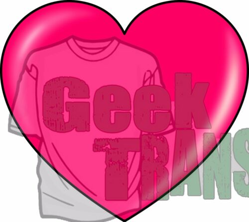 love hearts on T Shirt heat diy Transfer free postage cartoon red romantic