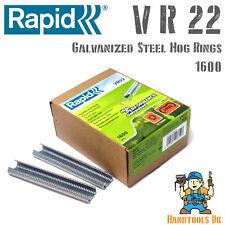 Rapid VR22 Galvanized Hog Rings for FP20 / FP222 Fence Pliers 1600 Pack Bulk Box