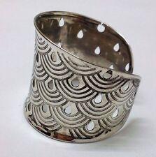 RAINBOW - Silver Oxidized Cuff Bracelet Charm Wristlet Wrist Band Bangle Jewelry