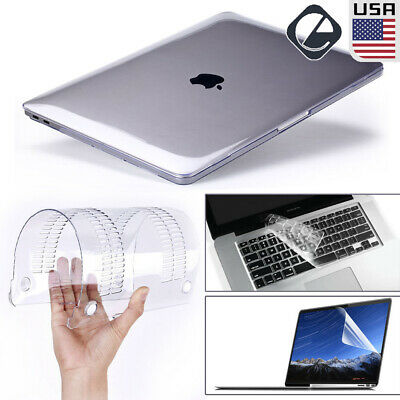 "Glossy Clear Hard Shell Case Keyboard Cover LCD For MacBook PRO 13//15/"" Touch Bar"