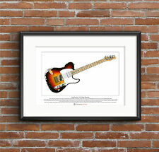 Andy Summers' Fender Telecaster Limited Edition Fine Art Print A3 size