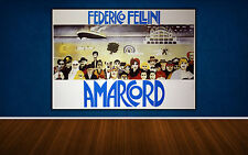 Movie Poster Amarcord 140x100 CM - Federico Fellini