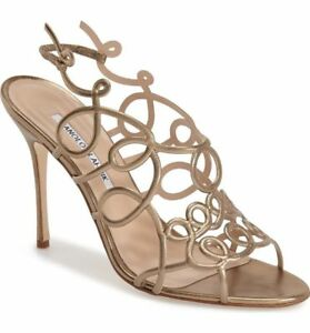 995 Manolo Blahnik Gori Cage Sandals Slingback Pump Shoe