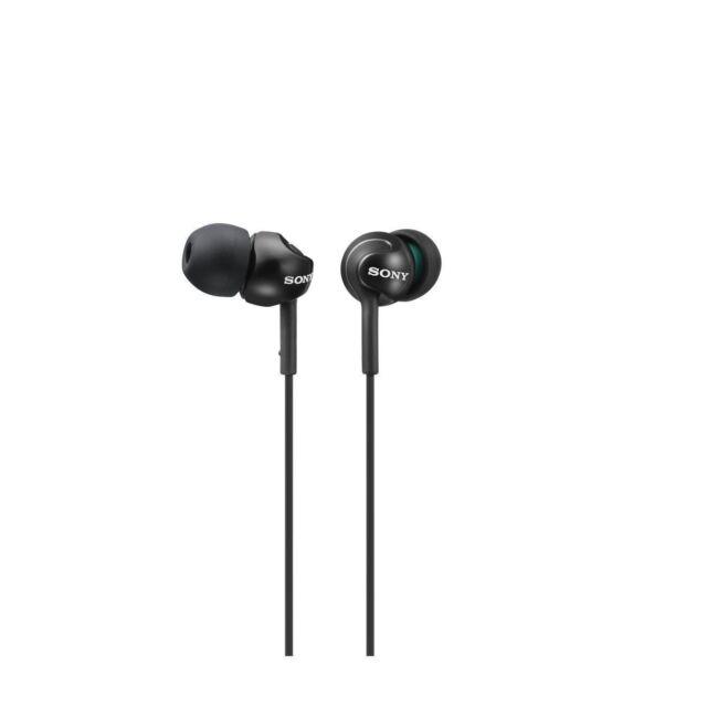 Sony MDR-EX110LPB Wired Headphones - Metallic Black