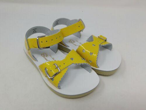 Salt Water Girls Shiny Yellow Sweetheart Sandals Size 8 Toddler US