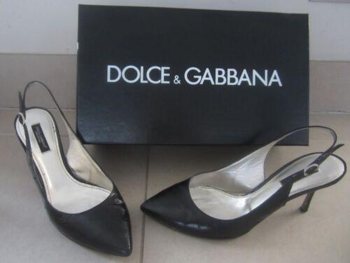Gabbana cinturino Scarpe con in Dolce D tacco Gattino 36 pelle 5 Taglia con G nero 5 3 0wEwWv