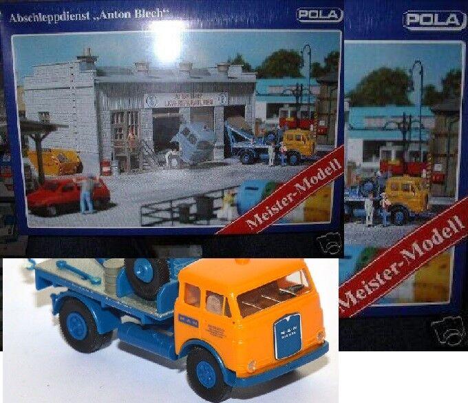 bienvenido a orden Pola h0 h0 h0 310664 Anton chapa grúa con abschlepp-camión nuevo embalaje original taller  barato y de moda