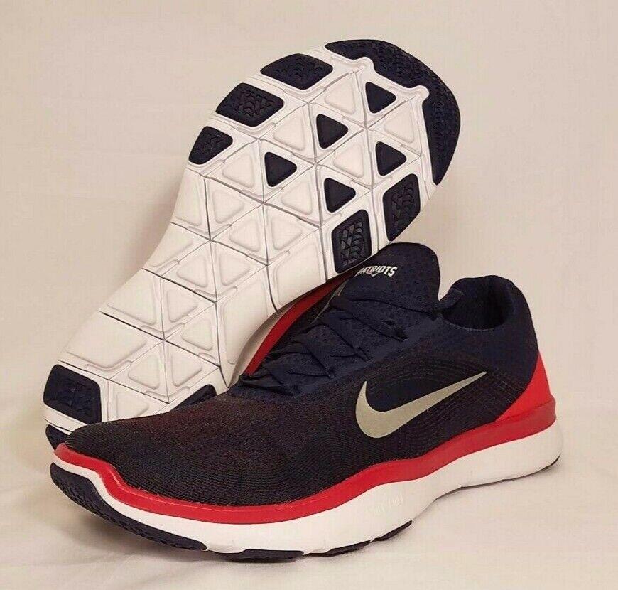 Nike New England Patriots Free Trainer V7 Navy Chrome Men's 11.5 AA1948-404