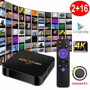 Details about 2019 MX10PRO Android 8 1 Oreo 2+16G Smart TV BOX Quad Core 4K  Media HDMI MINI PC