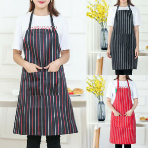Women-Cooking-Chef-Kitchen-Restaurant-Bib-Apron-Dress-Pocket-Apron