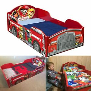 huge selection of 84602 eab1c Details about PAW Patrol Wooden Toddler Bed Children Bedroom Kids Furniture  Sturdy Durable